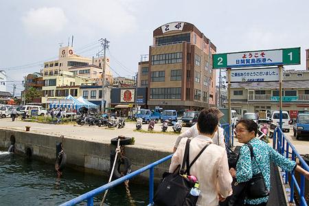 日間賀島の船着き場