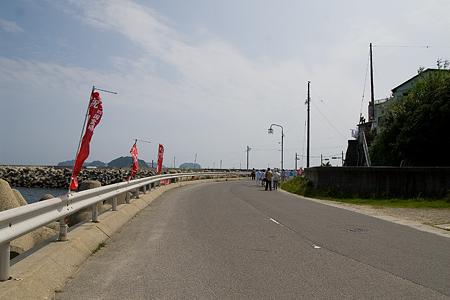 海沿いの広い道