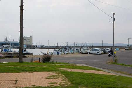 船着き場前の広場