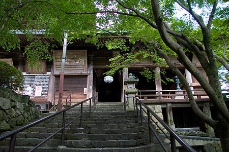 長谷寺参道階段の終わり
