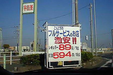 かつてのガソリン代