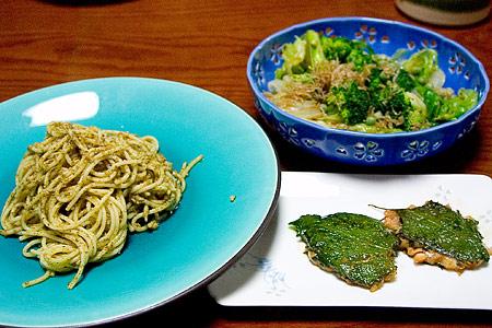 グリーン料理(ちょっと半端)