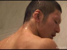 ゲイ動画:800万PV記念 デカマラ体育会坊主筋肉風呂でGO !! & イケメンサッカー筋まらノンケシュート !! (復活版)