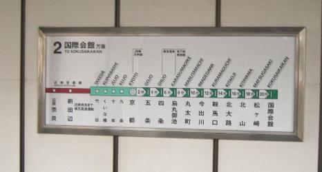 地下鉄の駅名もなんかスゴイな。。。京都(´_`。)