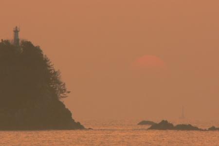 久礼湾の日の出 写真 08/03/18