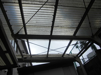 車庫の屋根張替