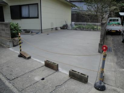 K邸の駐車場コンクリート舗装など