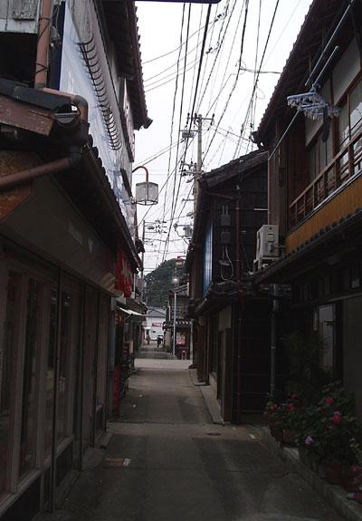 漁村の町並み