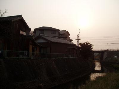 夕日のホーロー看板