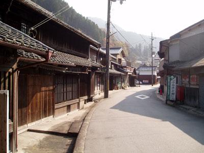 奈良県東吉野村の町並み